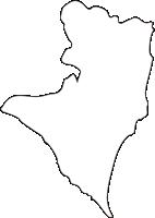 北海道日高振興局えりも町(えりもちょう)の白地図無料ダウンロード