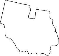 北海道十勝総合振興局音更町(おとふけちょう)の白地図無料ダウンロード