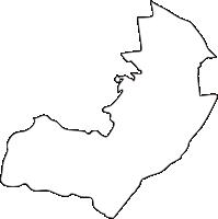 北海道十勝総合振興局芽室町(めむろちょう)の白地図無料ダウンロード