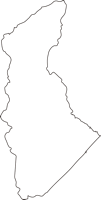 北海道十勝総合振興局浦幌町(うらほろちょう)の白地図無料ダウンロード