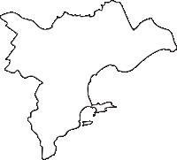北海道釧路総合振興局浜中町(はまなかちょう)の白地図無料ダウンロード