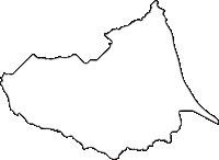 北海道根室振興局別海町(べつかいちょう)の白地図無料ダウンロード