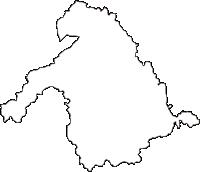青森県弘前市(ひろさきし)の白地図無料ダウンロード