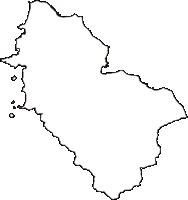 青森県東津軽郡平内町(ひらないまち)の白地図無料ダウンロード