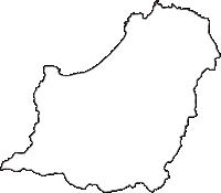 青森県東津軽郡今別町(いまべつまち)の白地図無料ダウンロード