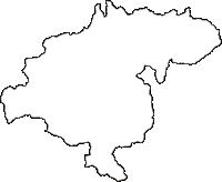 青森県南津軽郡大鰐町(おおわにまち)の白地図無料ダウンロード