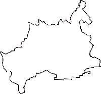 青森県南津軽郡田舎館村(いなかだてむら)の白地図無料ダウンロード