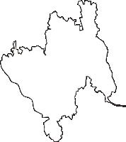 青森県北津軽郡板柳町(いたやなぎまち)の白地図無料ダウンロード