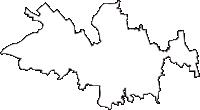 青森県北津軽郡鶴田町(つるたまち)の白地図無料ダウンロード