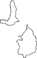 青森県北津軽郡中泊町(なかどまりまち)の白地図無料ダウンロード