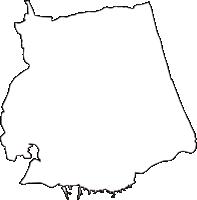 青森県上北郡おいらせ町(おいらせちょう)の白地図無料ダウンロード