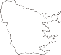 岩手県釜石市(かまいしし)の白地図無料ダウンロード