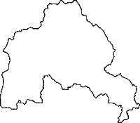 岩手県東磐井郡藤沢町(ふじさわちょう)の白地図無料ダウンロード