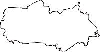 宮城県多賀城市(たがじょうし)の白地図無料ダウンロード