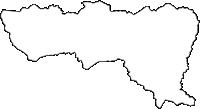 宮城県刈田郡蔵王町(ざおうまち)の白地図無料ダウンロード