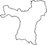 宮城県柴田郡村田町(むらたまち)の白地図無料ダウンロード