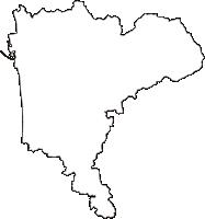 秋田県秋田市(あきたし)の白地図無料ダウンロード