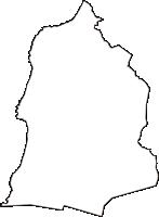 秋田県にかほ市(にかほし)の白地図無料ダウンロード