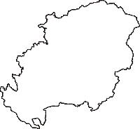秋田県仙北郡美郷町(みさとちょう)の白地図無料ダウンロード