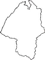 山形県鶴岡市(つるおかし)の白地図無料ダウンロード