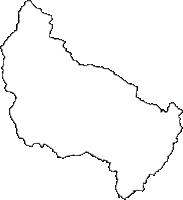 山形県長井市(ながいし)の白地図無料ダウンロード