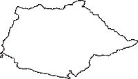 山形県天童市(てんどうし)の白地図無料ダウンロード