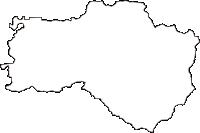 山形県東根市(ひがしねし)の白地図無料ダウンロード