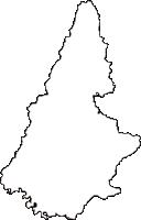 山形県南陽市(なんようし)の白地図無料ダウンロード