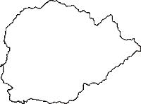 山形県最上郡金山町(かねやままち)の白地図無料ダウンロード