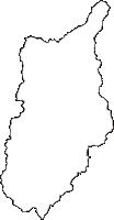 山形県西置賜郡小国町(おぐにまち)の白地図無料ダウンロード