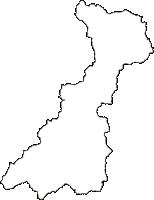 山形県西置賜郡飯豊町(いいでまち)の白地図無料ダウンロード