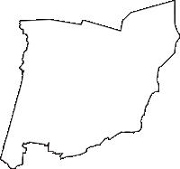山形県飽海郡遊佐町(ゆざまち)の白地図無料ダウンロード