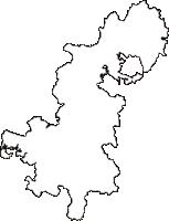 福島県田村郡三春町(みはるまち)の白地図無料ダウンロード