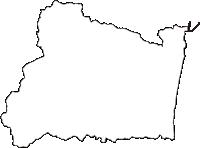 福島県双葉郡楢葉町(ならはまち)の白地図無料ダウンロード