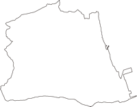 福島県相馬郡新地町(しんちまち)の白地図無料ダウンロード