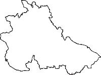 茨城県水戸市(みとし)の白地図無料ダウンロード