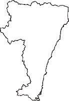 茨城県日立市(ひたちし)の白地図無料ダウンロード