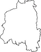 茨城県筑西市(ちくせいし)の白地図無料ダウンロード