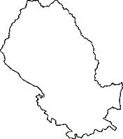 栃木県足利市(あしかがし)の白地図無料ダウンロード