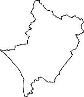 栃木県さくら市(さくらし)の白地図無料ダウンロード