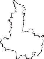 栃木県下野市(しもつけし)の白地図無料ダウンロード