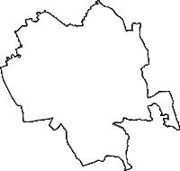 栃木県塩谷郡高根沢町(たかねざわまち)の白地図無料ダウンロード