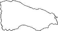 群馬県安中市(あんなかし)の白地図無料ダウンロード