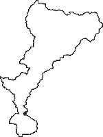群馬県みどり市(みどりし)の白地図無料ダウンロード