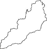 群馬県甘楽郡甘楽町(かんらまち)の白地図無料ダウンロード