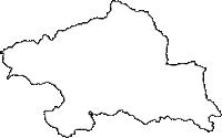 群馬県吾妻郡中之条町(なかのじょうまち)の白地図無料ダウンロード