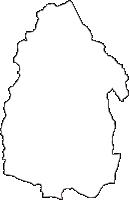群馬県吾妻郡嬬恋村(つまごいむら)の白地図無料ダウンロード