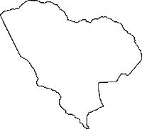 群馬県吾妻郡草津町(くさつまち)の白地図無料ダウンロード