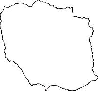 群馬県吾妻郡高山村(たかやまむら)の白地図無料ダウンロード