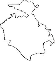 群馬県邑楽郡板倉町(いたくらまち)の白地図無料ダウンロード